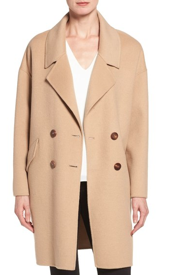 DVF DOUBLE FACE DOUBLE BREASTED WALKING COAT
