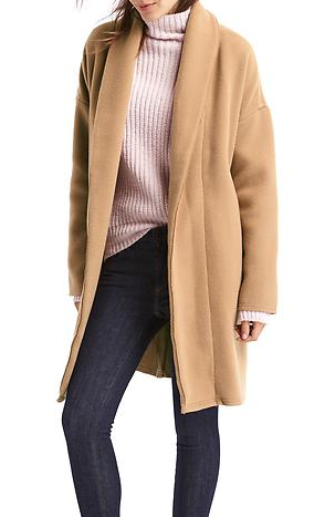 Gap PLUSH SHAWL COLLAR COAT
