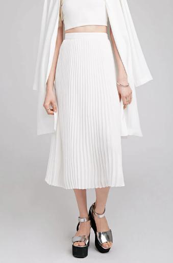 Forever 21 Accordian Pleat Midi Skirt