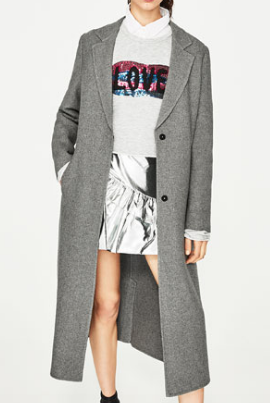 GREY LONG JACKET