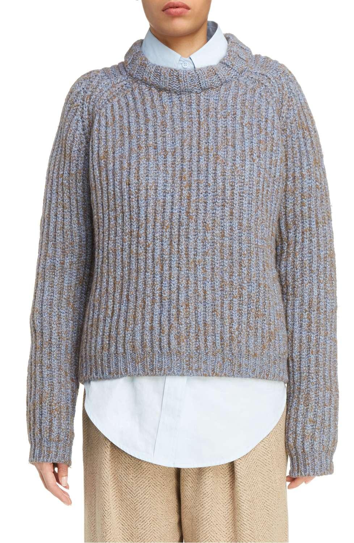 acne sandy mouline cablie knit sweater