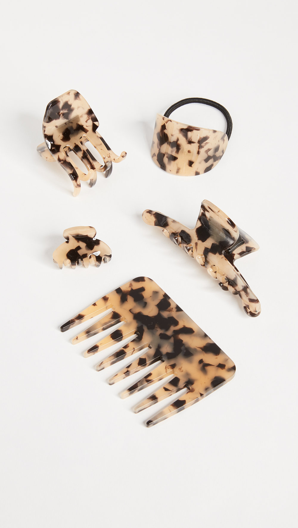kitsch hair clip comb set