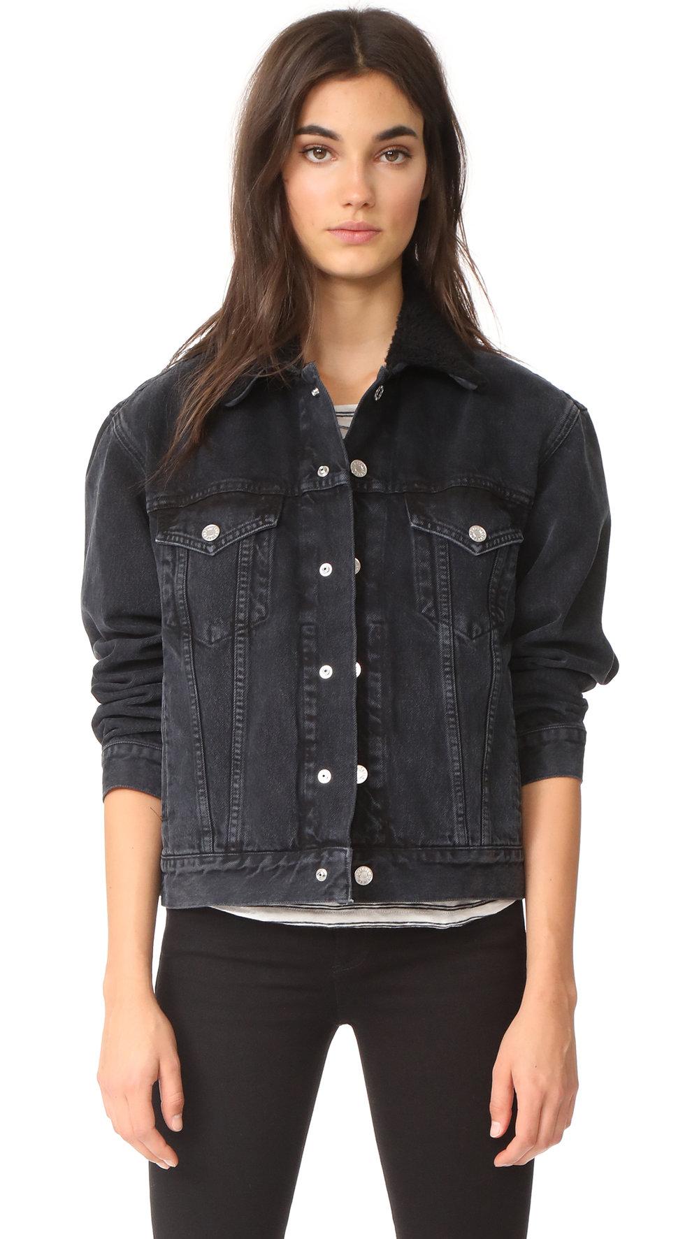 agolde sherpa jacket