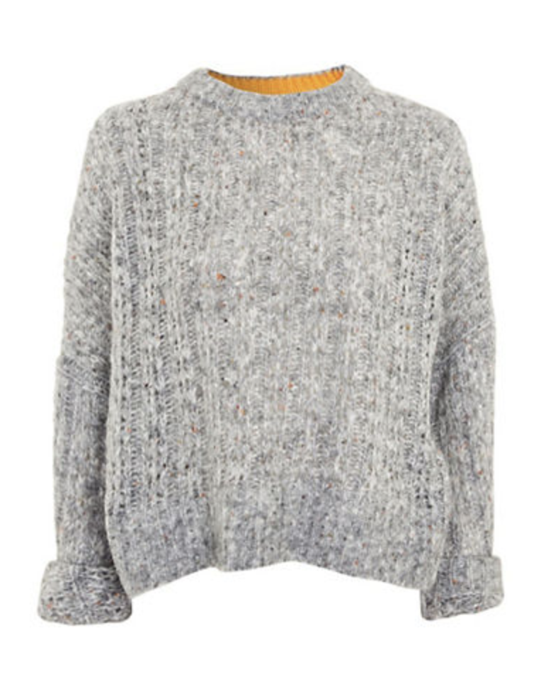 topshop neppy wool blend sweater