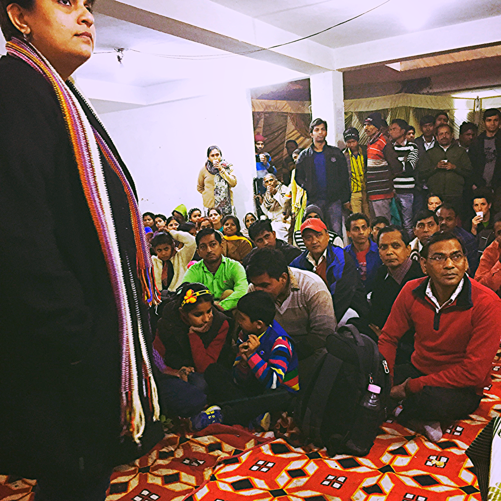 People living with HIV, doctors and attorneys at meeting in New Delhi, India (2015)