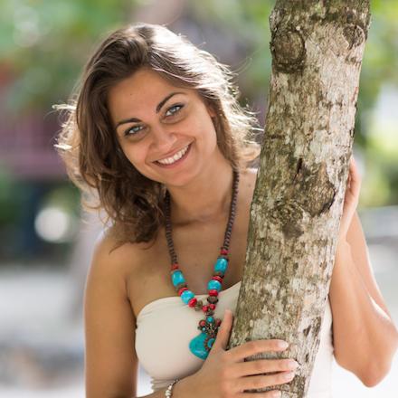 Elisa Caro, Vinyasa Yoga teacher, a Tantric facilitator, Italian babe.