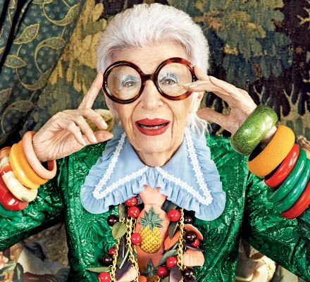 Iris Apfel: a heroine and master at  giving no fucks .