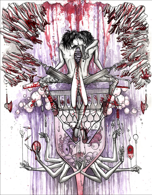 mis.Fracture 2005 ink, watercolor