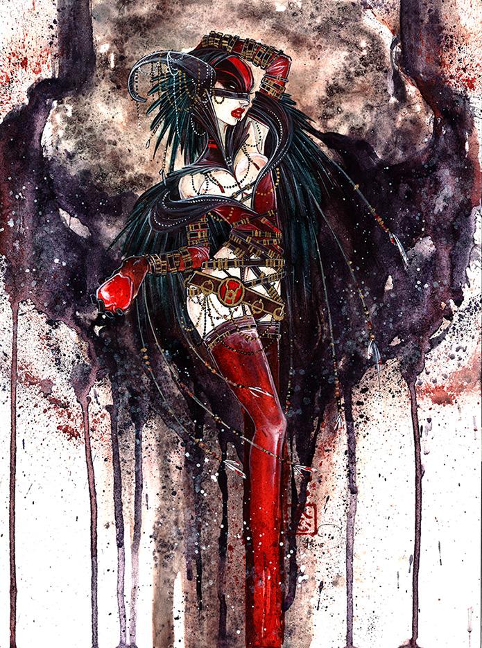 Villain ||watercolor, ink, gouache