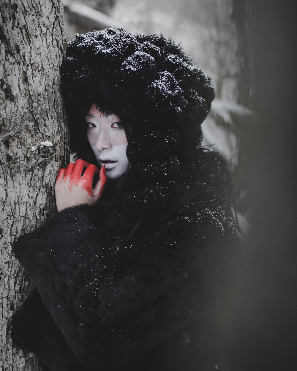© duston todd_fashion_asian_trees_winter_red_hands.jpg
