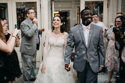 Photo Of Couple Exiting Wedding With Bubbles At Tresca On 8th