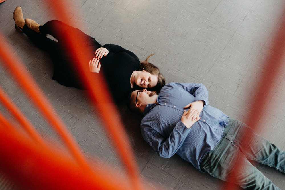 Couple lying down