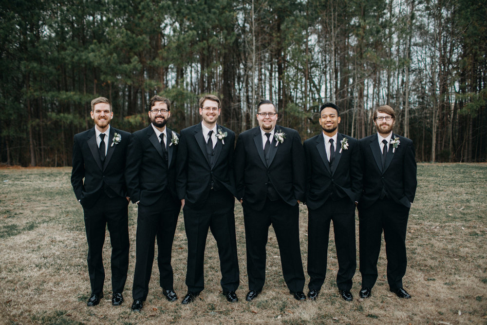 groomsmen at Richmond wedding