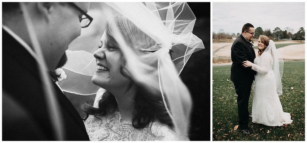 bride and groom portraits at Meadowbrook Country Club