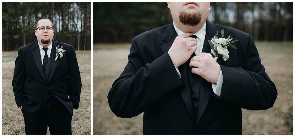 groom at Midlothian wedding