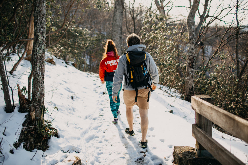 snowy mountain top engagement