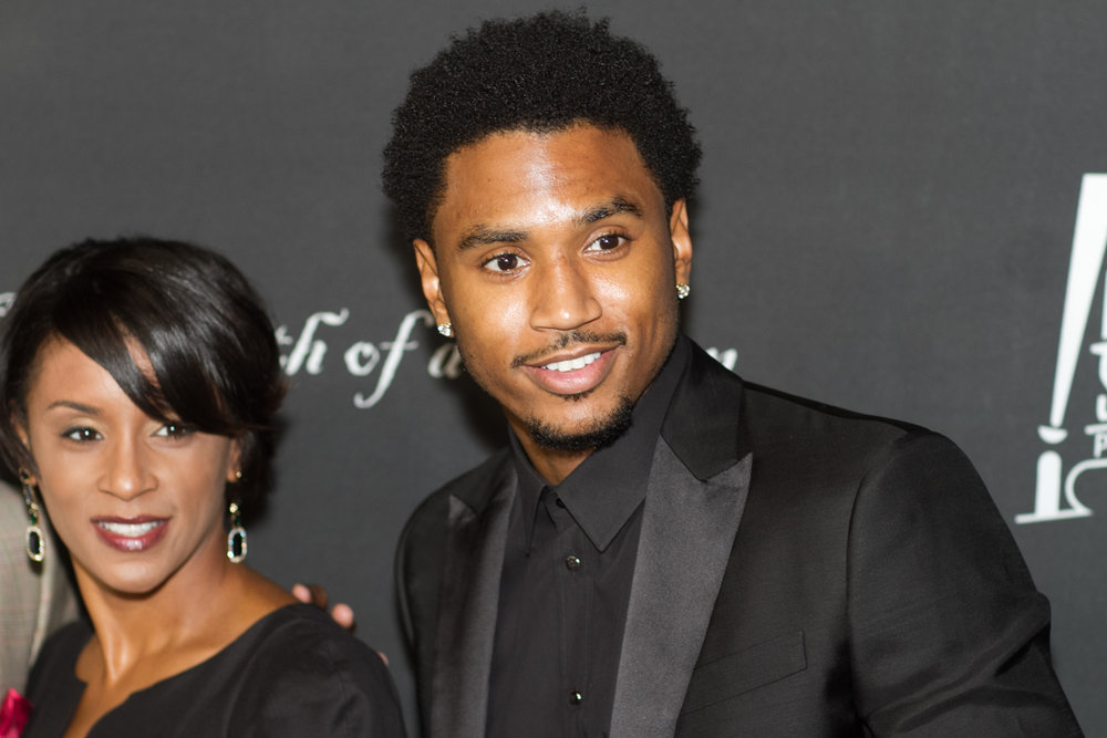 Trey Songz and his mother.