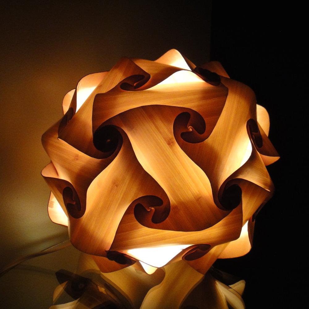 Bamboo Veneer Lamp