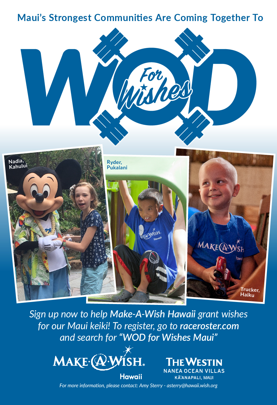 Make-A-Wish flier for WOD For Wishes