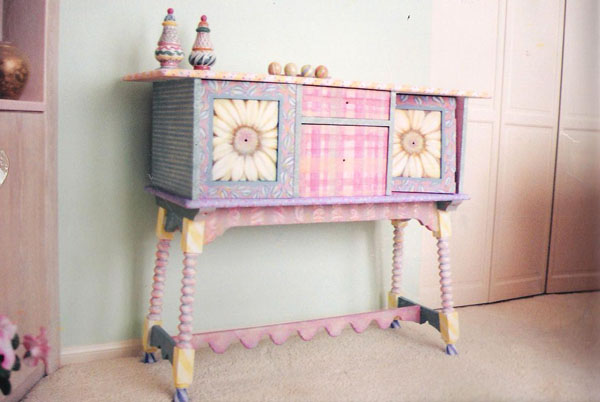 Hand-painted chest.