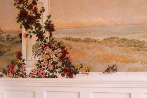 Detail, dining room mural.