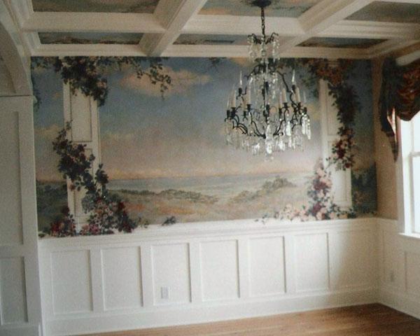 Dining room mural.