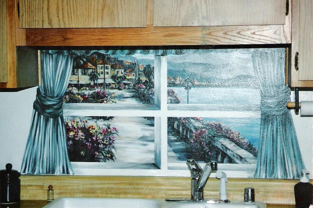 Condo sink mural.