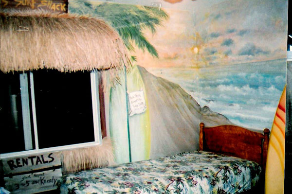 Surf theme child's room.