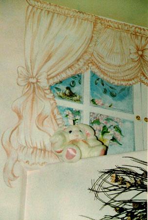 Girl's room mural.