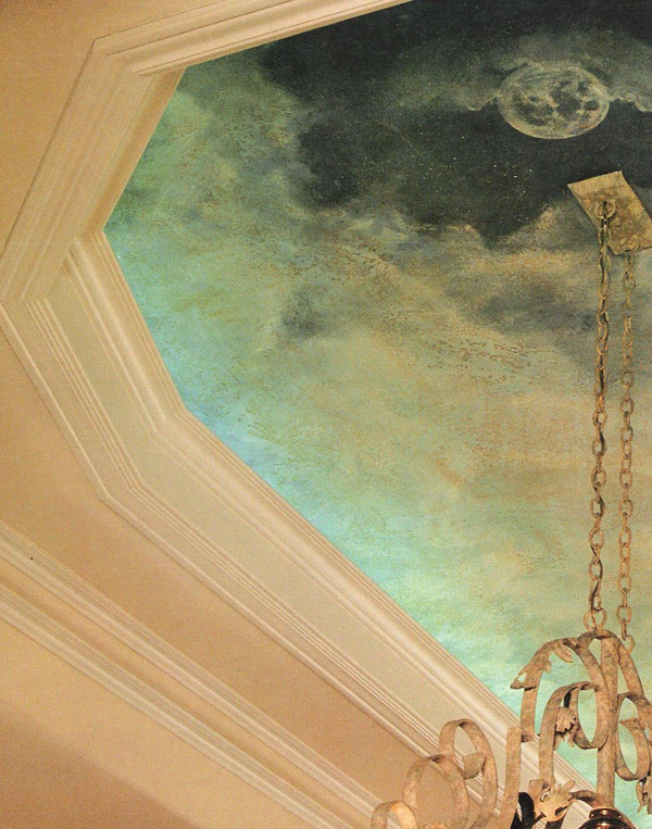 Plaster texture, glaze and mural.