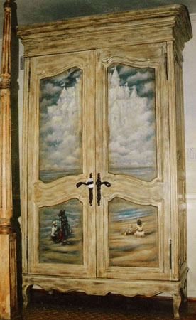 Custom finished child's armoire.