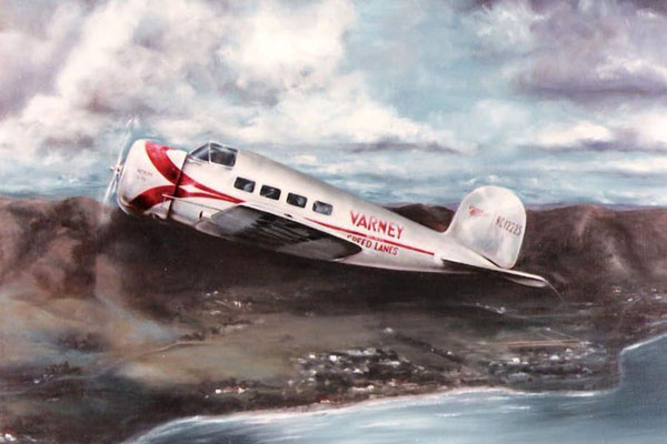 History of Lockheed painting.