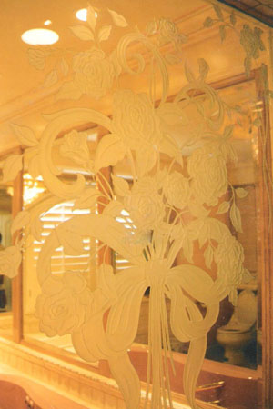 Shower glass design.