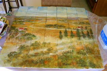 Tile mural.