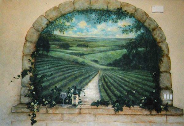 Vineyard mural.