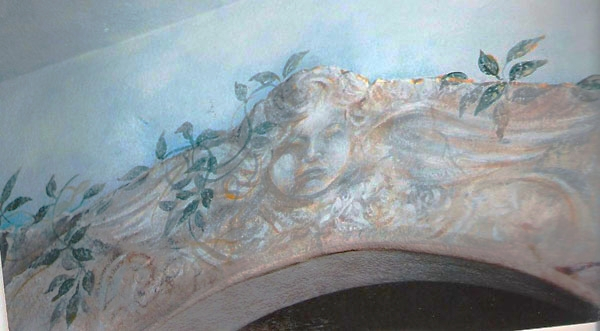 Detail, dining room.