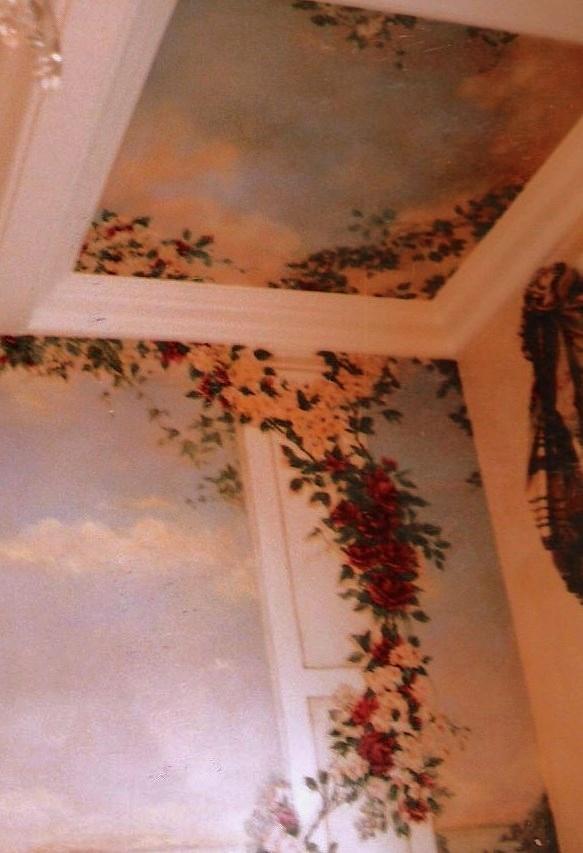 Detail, dining room,mural.