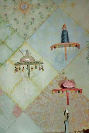 Detail, quilt mural.