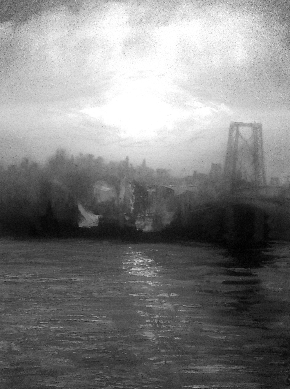 Williamsburg Bridge in B&W