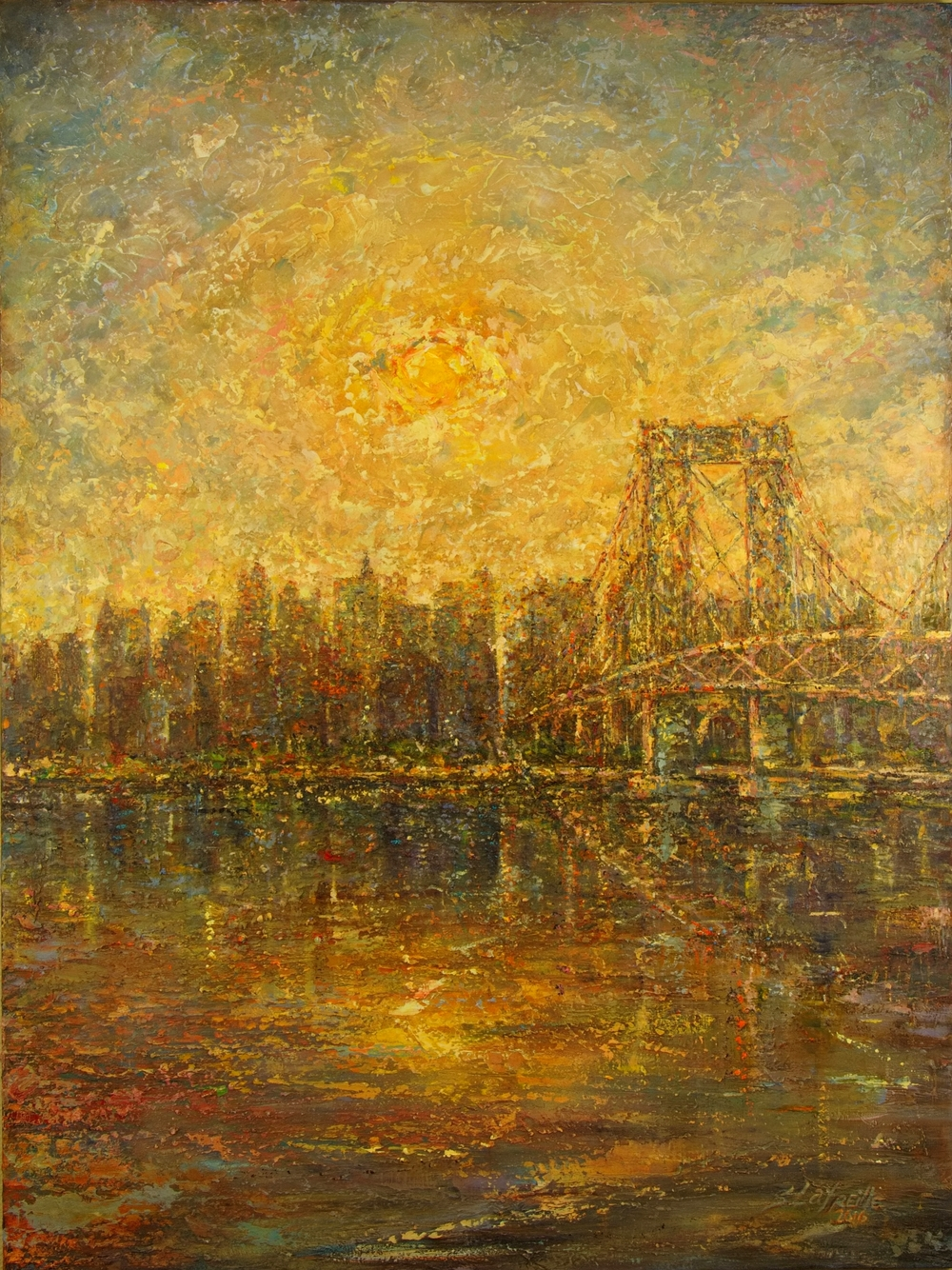 Williamsburg Bridge at Sunset 3