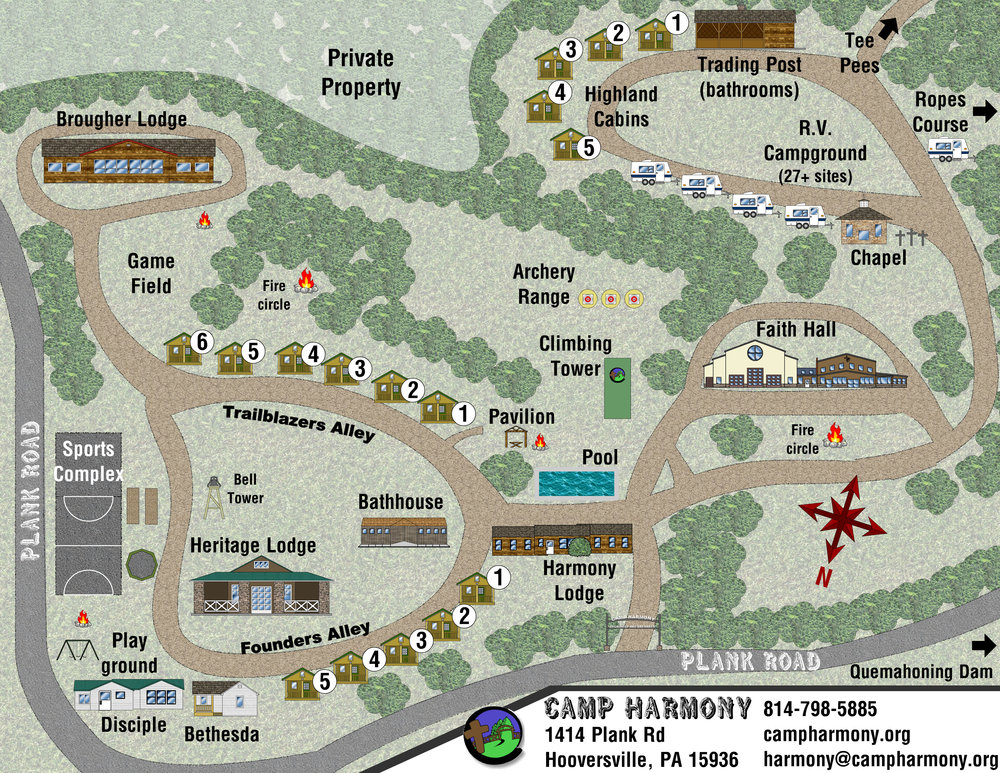 Camp Map - Click to Enlarge