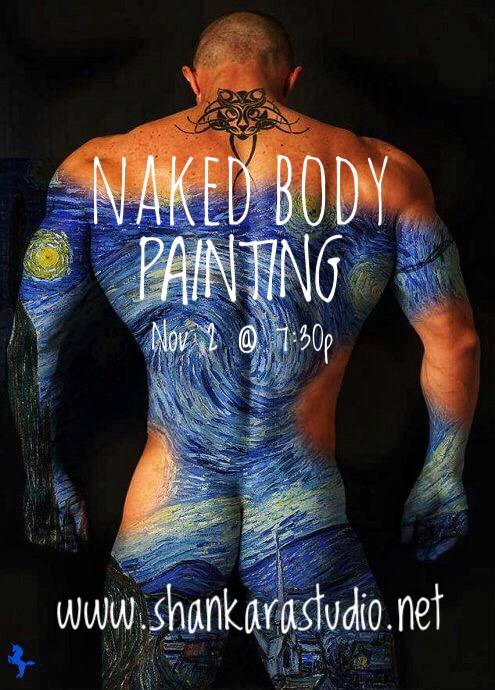 Nude boys body paint doll nude