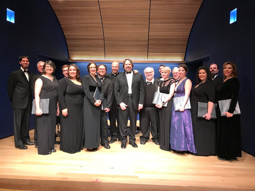 Frisina USA chamber ensemble debut with soloists Met Opera Chorus tenor Gary Pate, Sara McCabe, Timmie Cole and Kevin Peters under the musical direction of Maestro Robert W. Butts at the National Opera Center of America on December 4, 2016