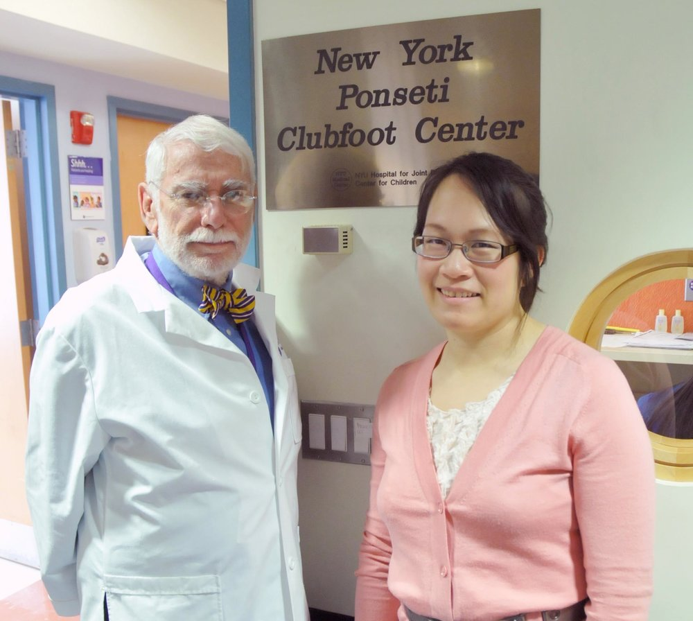 Wallace Lehman, MD & Alice Chu, MD - My mentor and the founder of the NY Ponseti clubfoot center - one of the oldest centers in the country to exclusively practice the Ponseti technique. We have treated hundreds of patients with almost 100% initial correction and published many papers on our work.