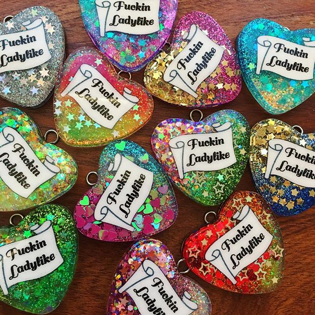 "New batch of ""The Lady"" now available in the Princess Store! Handmade by Her Royal Grumpiness and only $20 each! www.GrumpyPrincessIsGrumpy.com/store . . #resin #glitterresin #resinjewelry #glitter #ladylike #sparkle #pendant #handmade #handmadejewelry #shutupandtakemymoney #princess #grumpyprincess #notcinderella #notsorry"