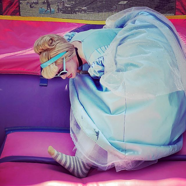 "*Leaving the Bouncy Castle* - ""Oh fuck what happened to my shoe?"" . . #princess #oops #imtryingokay  #princessproblems #partypeople"