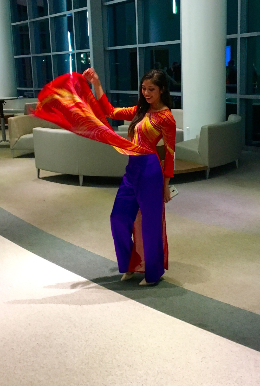Linda Nguyen, MD's ensemble for the Bascom Palmer graduation is just magical. This little fashionista designed this herself in Vietnam and she looks absolutely amazing.