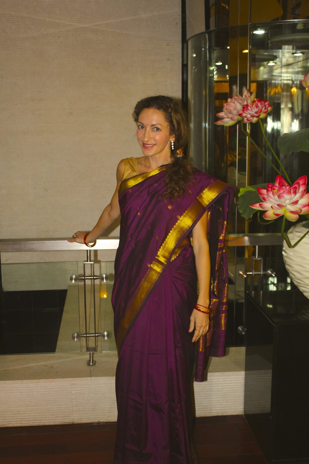 complete with bangles and a bindi