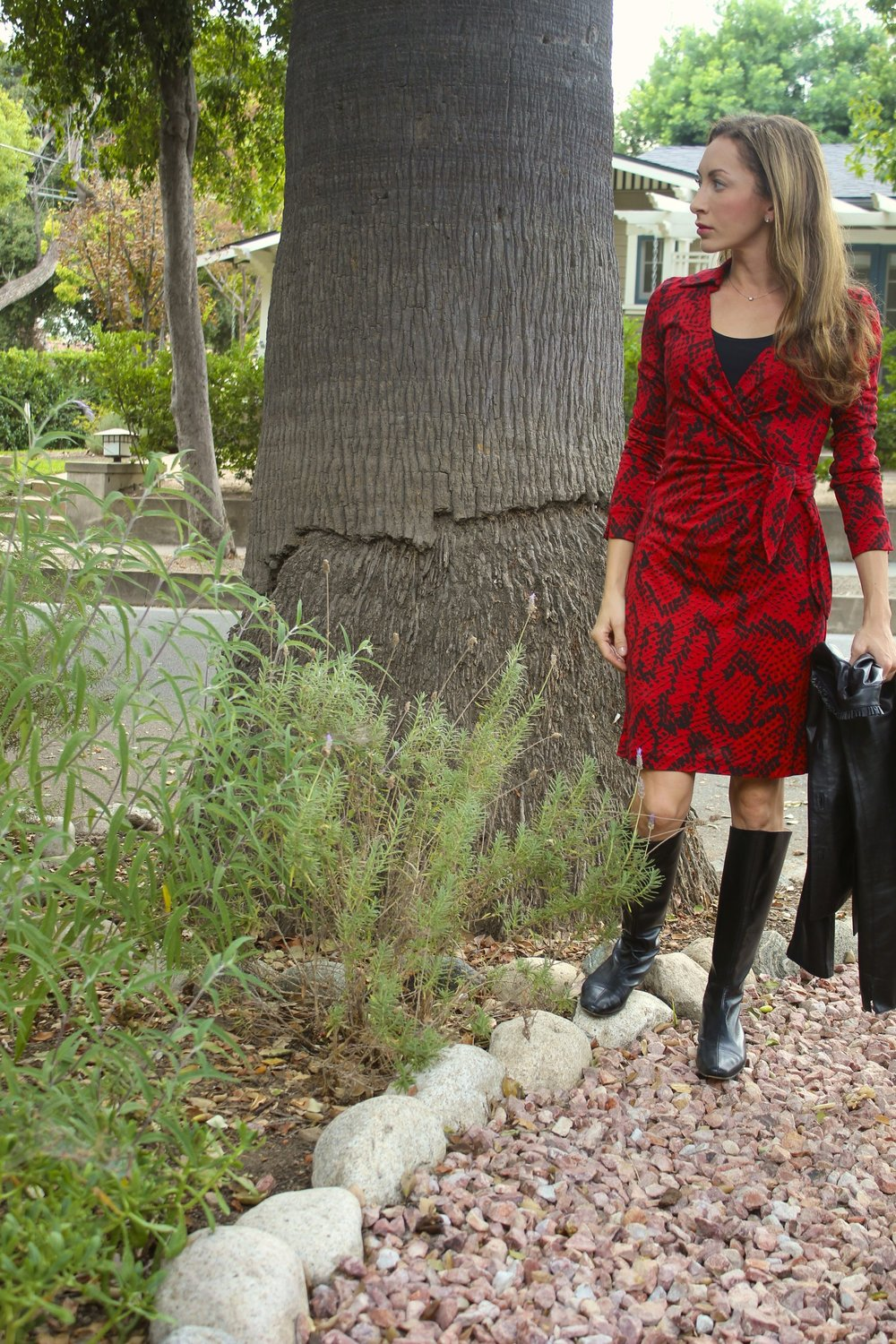 Going out after work (like me!) Try the DVF wrap   'Savannah'   (change into heels before dinner)! Similar   here