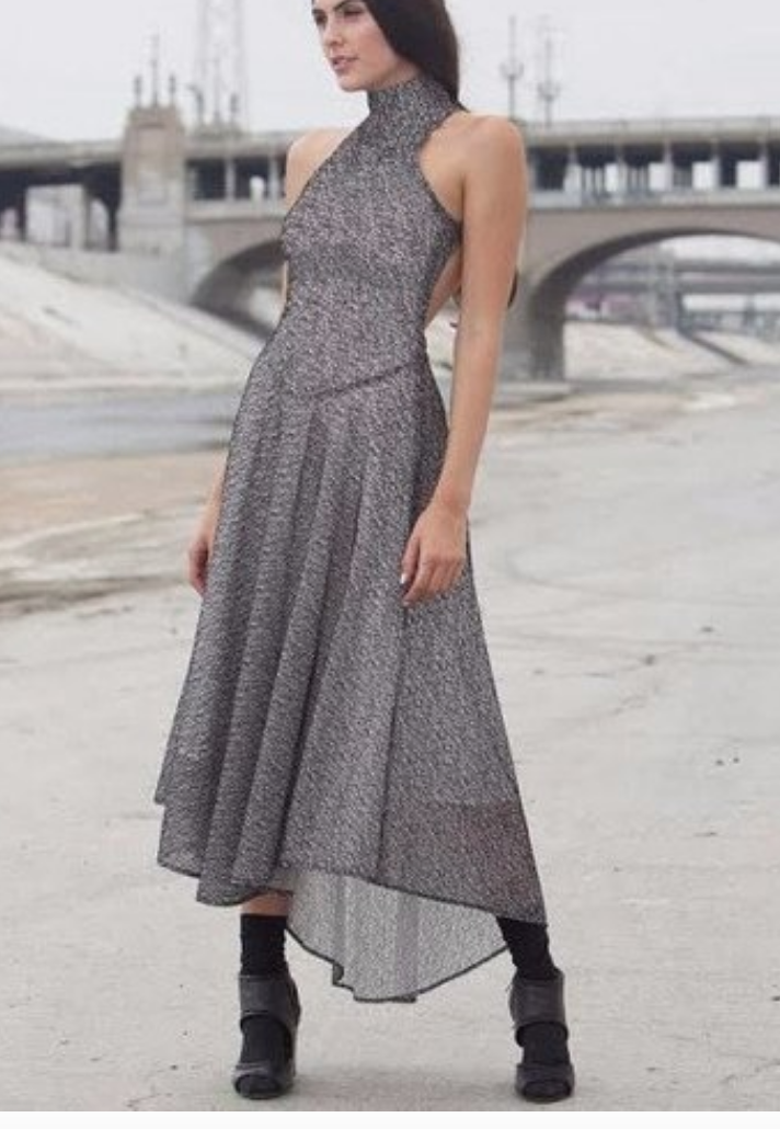 Feeling bold? this  Faith Lilli (previously Stella & Jamie) dress  is gorg! But I am surely not edgy enough to wear it with socks. Try a strappy stiletto instead--